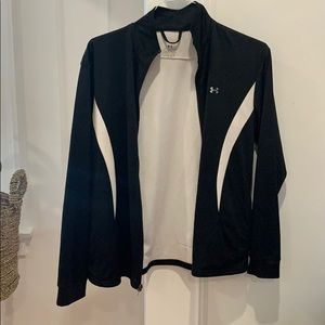 Under armour black and white zip up